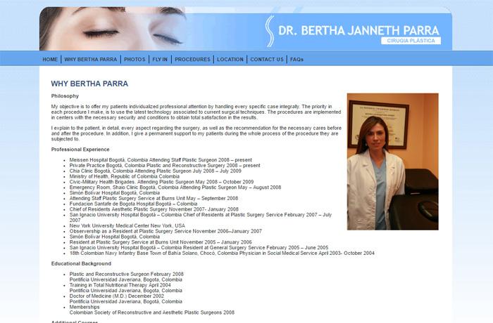 Sitio web Berthaparra.com